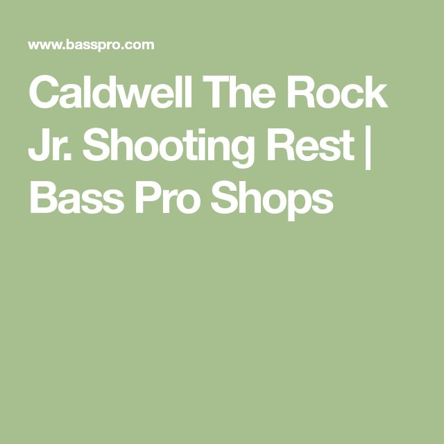 Caldwell The Rock Jr. Shooting Rest | Bass Pro Shops