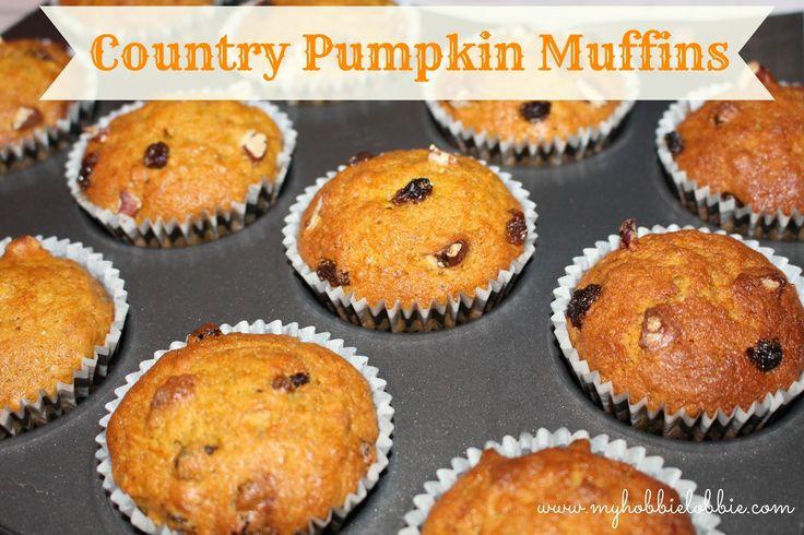 My Hobbie Lobbie: Country Pumpkin Muffins