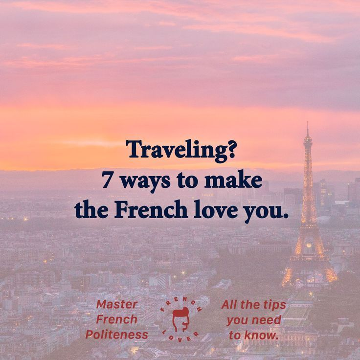 Politeness in France - French politeness - Traveling tips for tourists in France