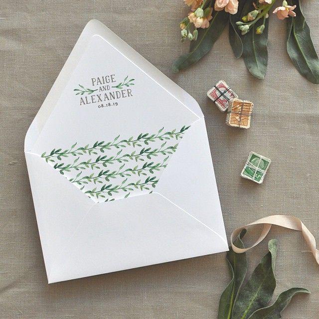 Liner love affair.   spring wedding invitaitons