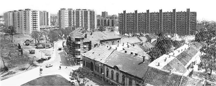 Az épülő Vörösmarty lakótelep forrás: Miskolc a Múltban