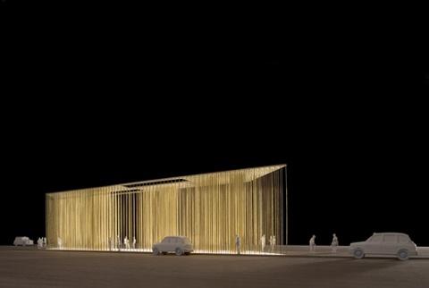 Light Rod Pavilion | Pavilion, Architecture foundation and ...