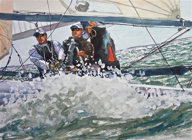The race, by Jeanne Conway Illustrations, prints available on Fine Art America
