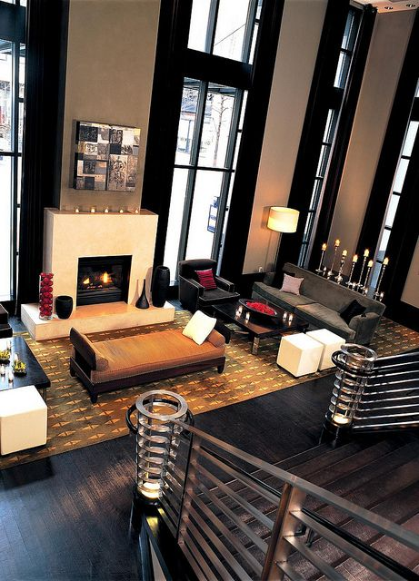 Amazing room: Ideas, Livingrooms, Living Rooms, Window, Brick, House, Space, Design