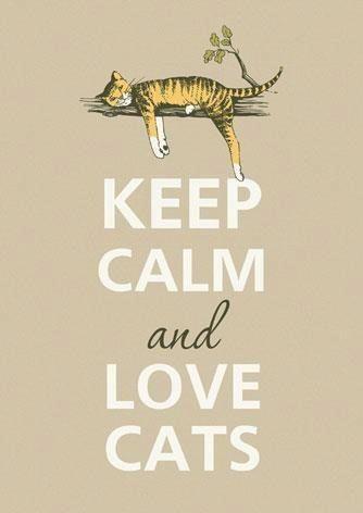 Hard to Keep Calm but I Do Love Cats!   Keep Calm and Love Cats   » ValeStrangeHouse.tumblr.com