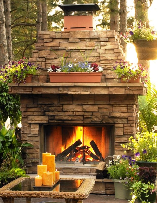 Outdoor Stone Fireplaces Outdoor Sierra Stacked Stone