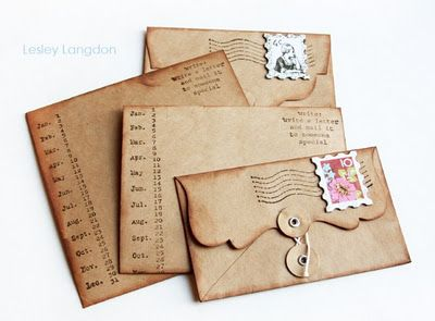 Pretty Cards to Make and Use...They Look Old.