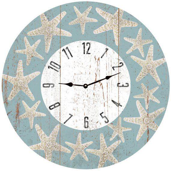 Starfish Clock Starfish Beach Clock In 2020 With Images Clock Beach Time Clock Quartz Clock Movements