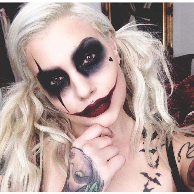 If Bailey were Harley Quinn  #harleyquinn #makeup #halloweenmakeup…