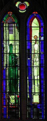 Georg Meistermann Köln, Kath. Kirche St. Gereon.Die zwölf Apostel: St. Petrus und St. Jakobus der Jüngere. Georg Meistermann, 1982