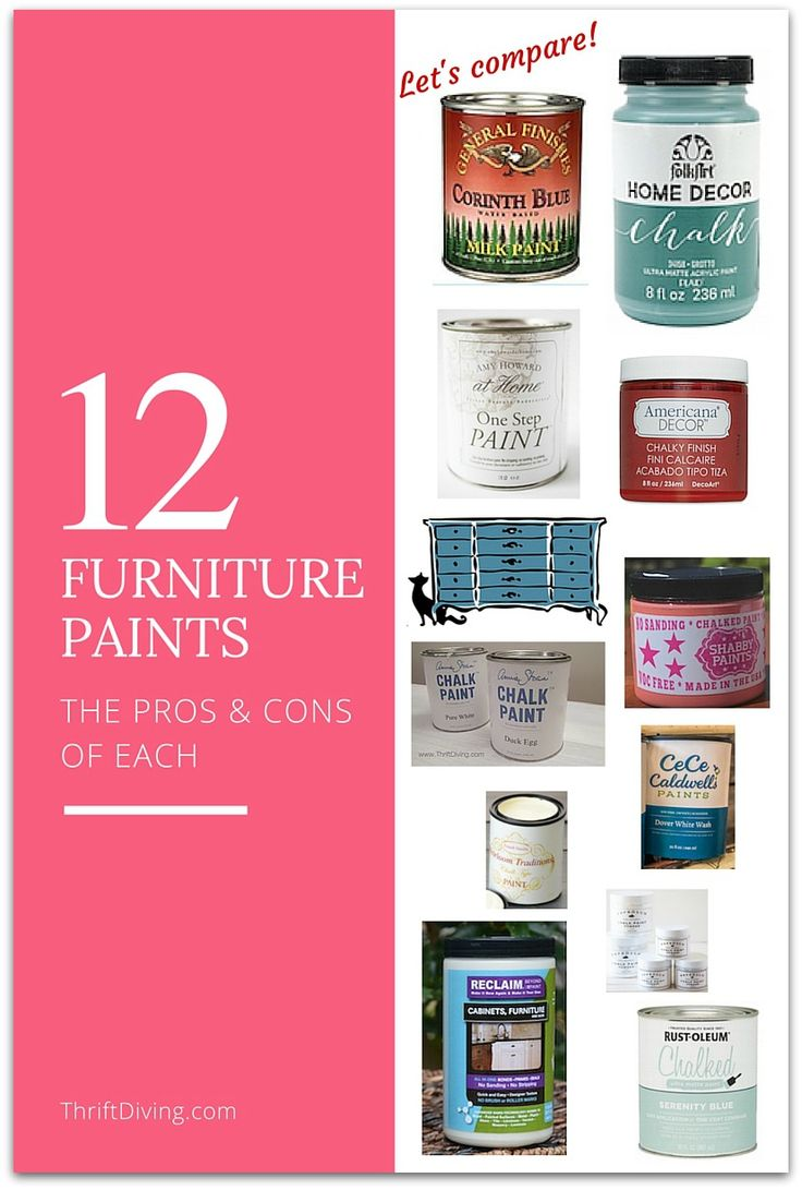 12 Furniture Paints - The PROS and CONS of each and how to choose which one will be best for your project - Thrift Diving