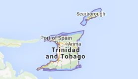Map of trinidad country