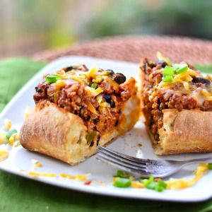 Stove Top Chili Bread Boats | Just Putzing Around the Kitchen