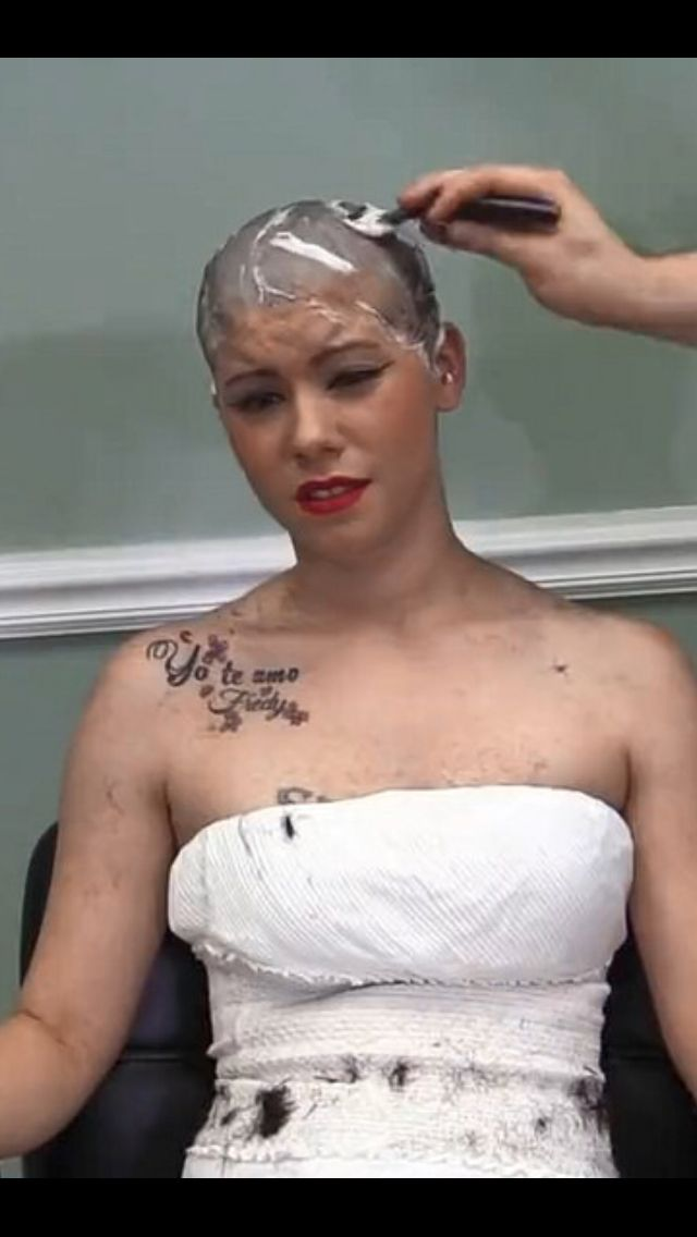 Pin by David Connelly on Bald Women Covered in Shaving Cream 2 in