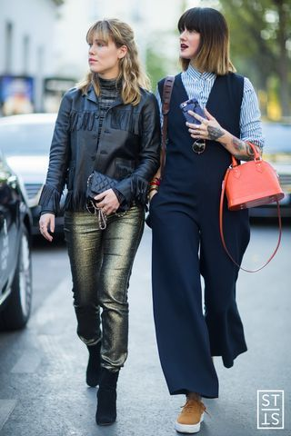 Annabel Rosendahl and Marianne Theodorsen of Style Devil during Paris Fashion Week SS 2016