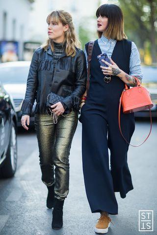 Annabel Rosendahl and Marianne Theodorsen of Style Devil during Paris Fashion Week SS 2016