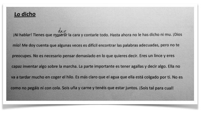 Ejemplo del uso de expresiones españoles. Nivel B2. Blog educaglobal.es