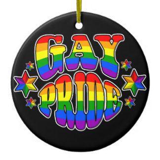 Orgulho gay: LGBT Ornamento De Cerâmica Redondo