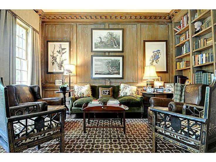 Beautiful Library blending tradition and modern | via harry norman real estate...