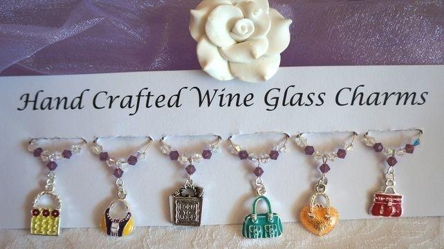 Handbag Wine Glass Charms - Teacher Gifts - New Home Gifts - Wine Glass Charms £9.99