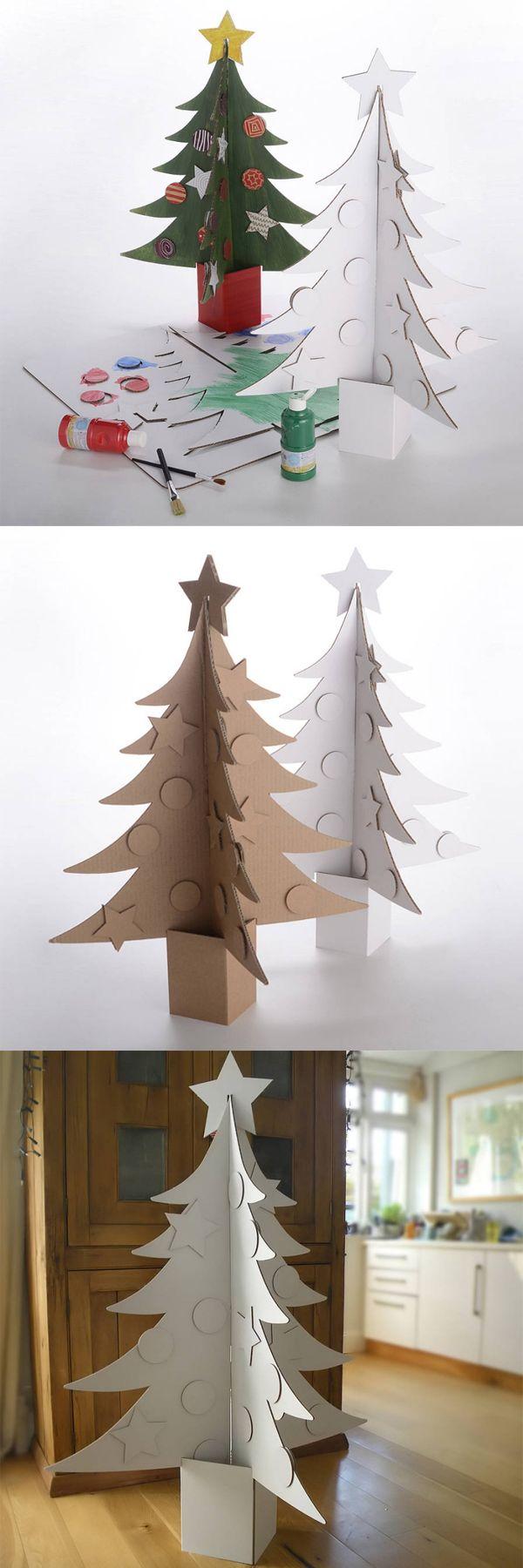 Letter Fest Cardboard Christmas Tree