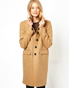 Cooper & Strollbrand Pretty Lady Coat Made from 100% pure wool Point collar Concealed button placket through front Front flap pocket detail Regular fit