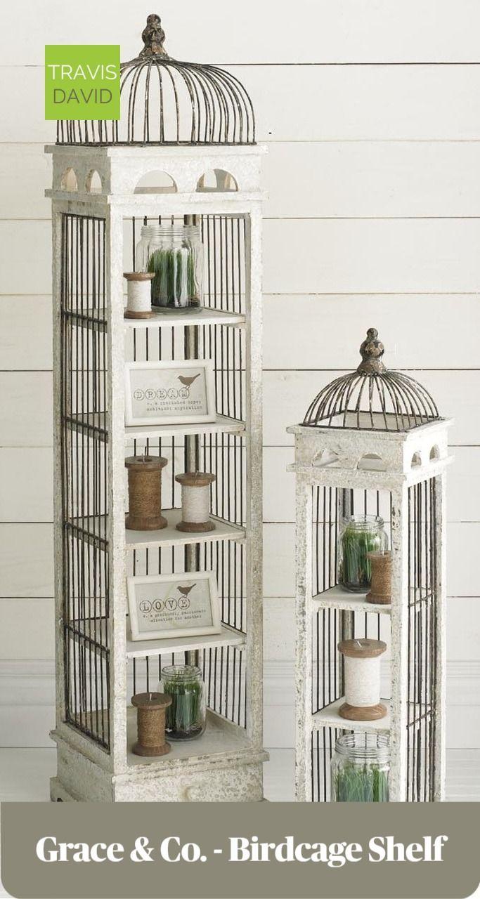 Grace Co 53 Birdcage Shelf Decorative Bird Houses Shelves