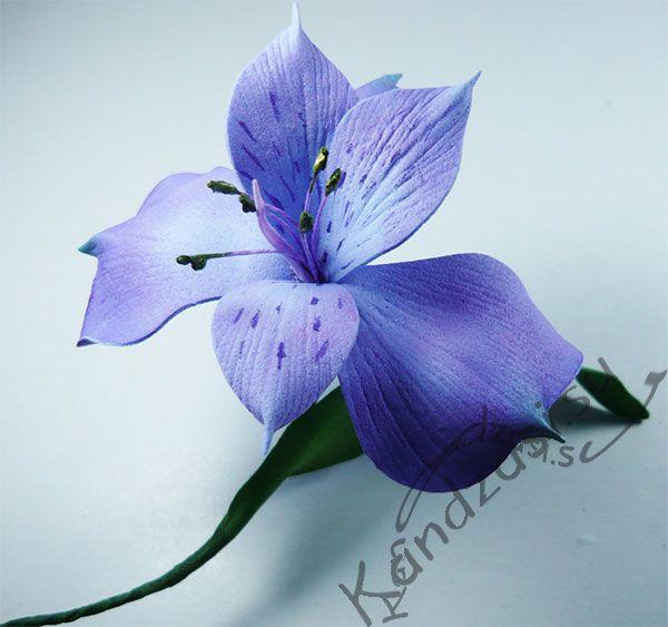 МК - цветок альстромерии http://kandzasi.su/foamiran/garden/alstroemeria.html