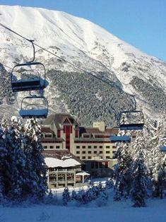 Alyeska Ski Resort Anchorage, Alaska.  Alaska has many beautiful and amazing ski resorts ranging from beginners to experts.