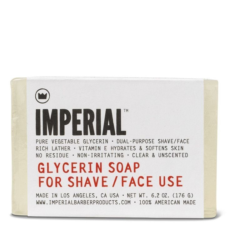 Imperial Barber 6.2-ounce Glycerin Bar Shave/Face Soap