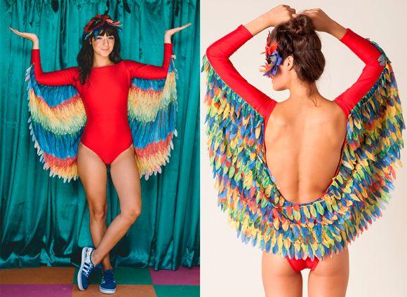 A fantasia mais linda de arara da Farm :) Body colorido, perfeito para o carnaval tropical!