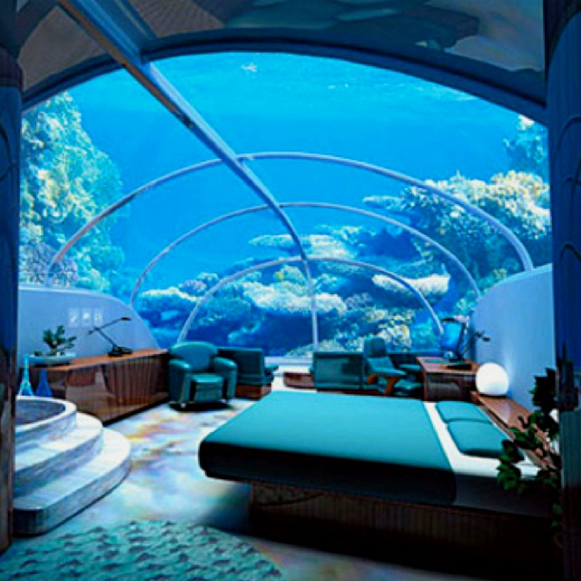 The Underwater Hotel In Fiji. WOW!
