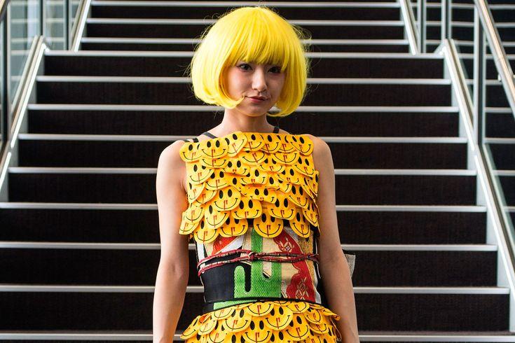 O street style cheio de personalidade da semana de moda de Tóquio ©Getty Images