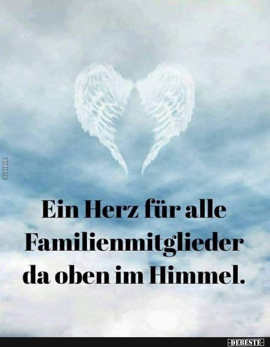 Ein Herz für alle Familienmitglieder da oben im H…