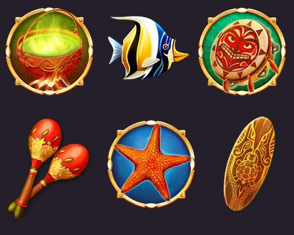 Game art for Slot game by Olga Yatsenko, via Behance