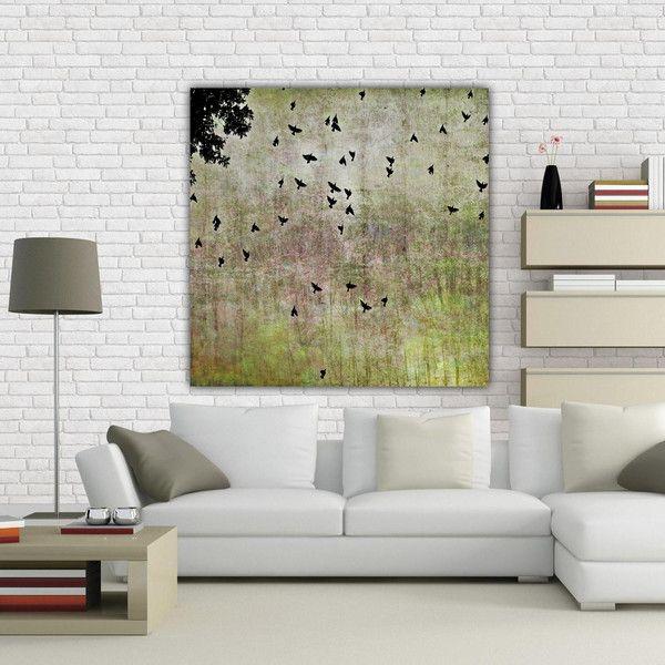 "Wanddeko - Leinwand ""Birds in the sky"" 80 x 80 cm - ein Designerstück von Heavensblue-Fotografie bei DaWanda"