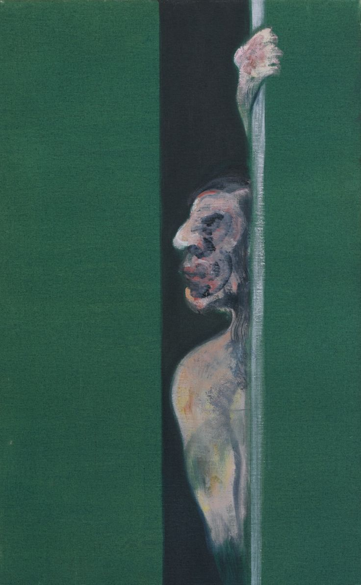 Francis Bacon (British, 1909-1992), Man with Arm Raised, 1960. Oil on canvas, 40 x 25 in.