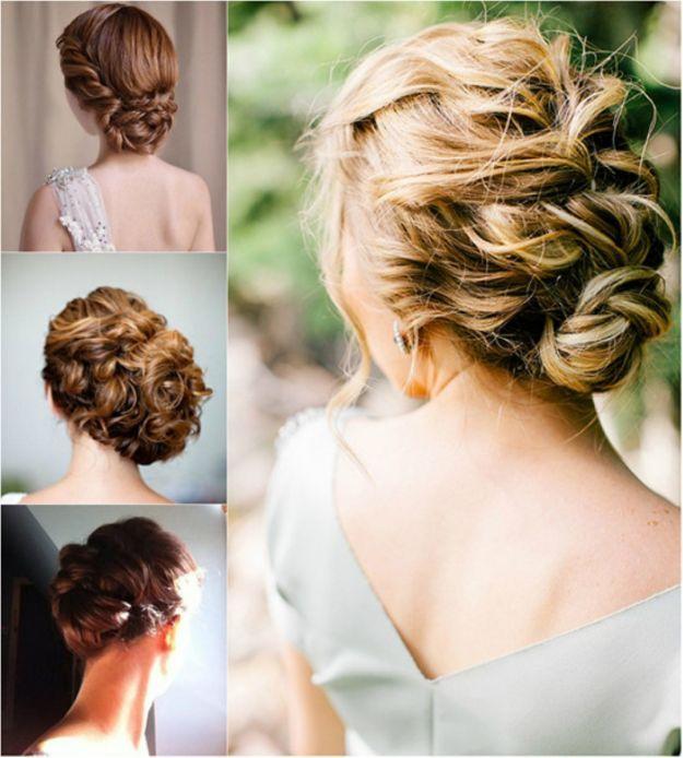 Романтичные свадебные прически на средние волосы ::: onelady.ru ::: #hair #hairs #hairstyle #hairstyles