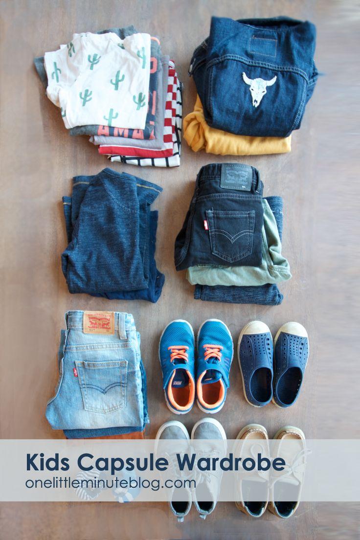 Back to School Kids Capsule Wardrobe - tips for boys style
