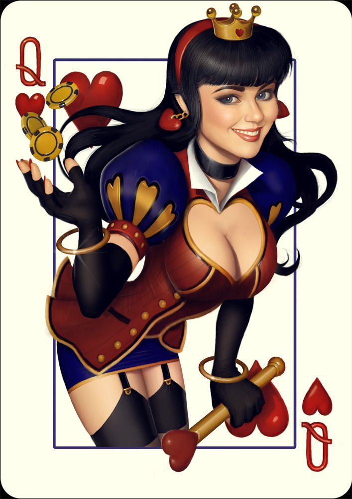 Share Playing cards with fantasy naked pictures with
