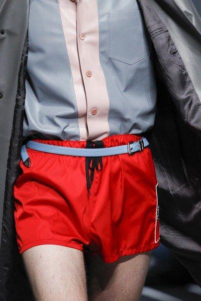 See detail photos for Prada Spring 2018 Menswear collection.