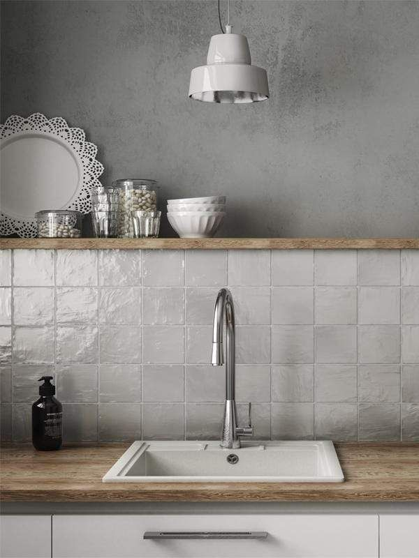Mallorca White 4x4 In 2021 White Tile Kitchen Backsplash Wallpaper Backsplash Kitchen Glass Tile Backsplash Kitchen