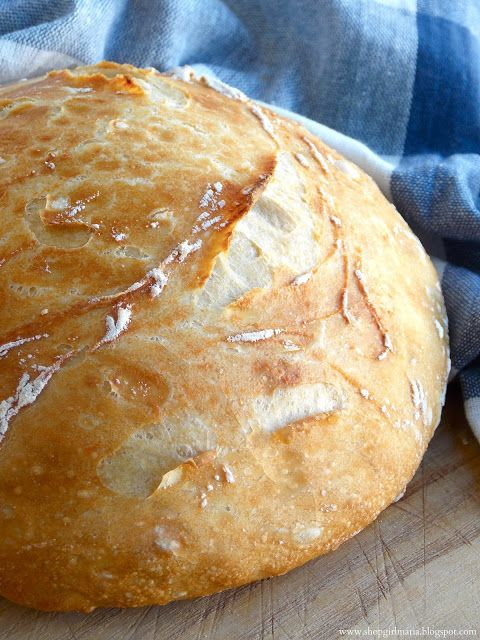 Easy Homemade Artisan Bread - want to stuff this with pasta, sauce, and cheese for pasta pizza