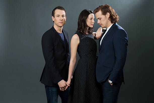 Actors Caitriona Balfe, Tobias Menzies, and Sam Heughan of STARZ's 'Outlander' are photographed for Los Angeles Times on March 26, 2016 in Los Angeles, California. PUBLISHED IMAGE.