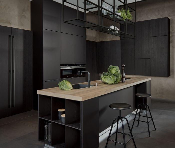 1001 Exemples Sublimes De La Cuisine Noire Et Bois