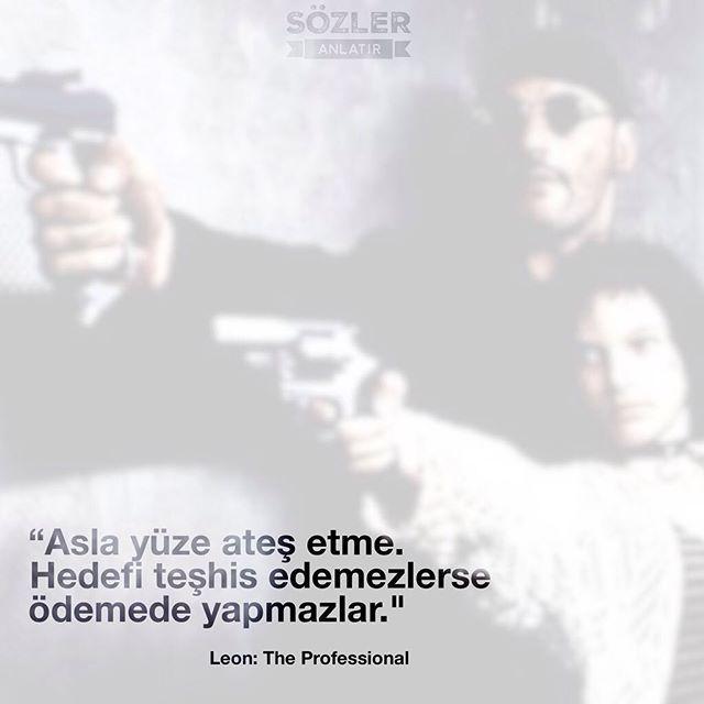 """""""Asla yüze ateş etme. Hedefi teşhis edemezlerse ödemede yapmazlar""""  Léon: The Professional (1994)  #film #fimreplikleri #diziler #sözler #alıntılar #leon"""