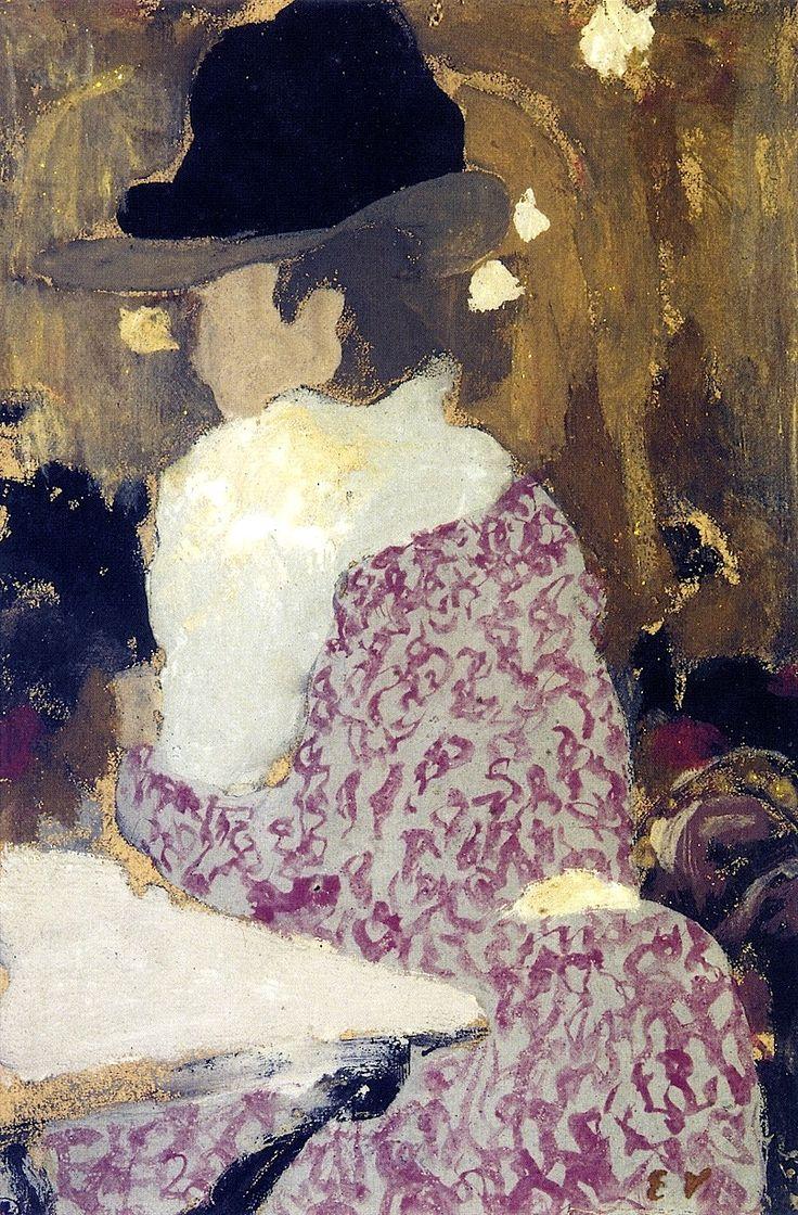 """""""At the Café-Concert"""": Edouard Vuillard - circa 1898."""