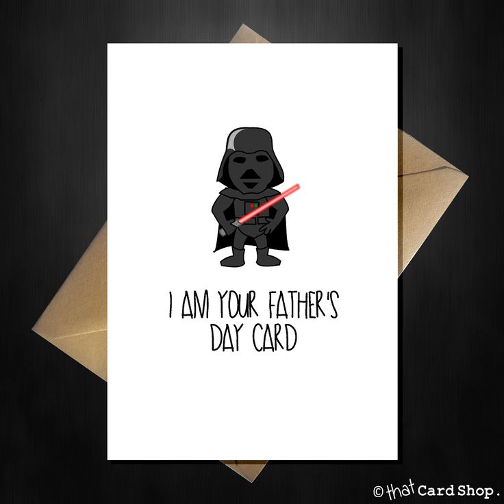 Darth Vader - I am your Father...s Day Card - Funny Star Wars Card