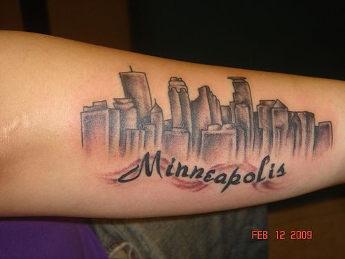I want a tattoo like this but more of an outline without for Twin city tattoo