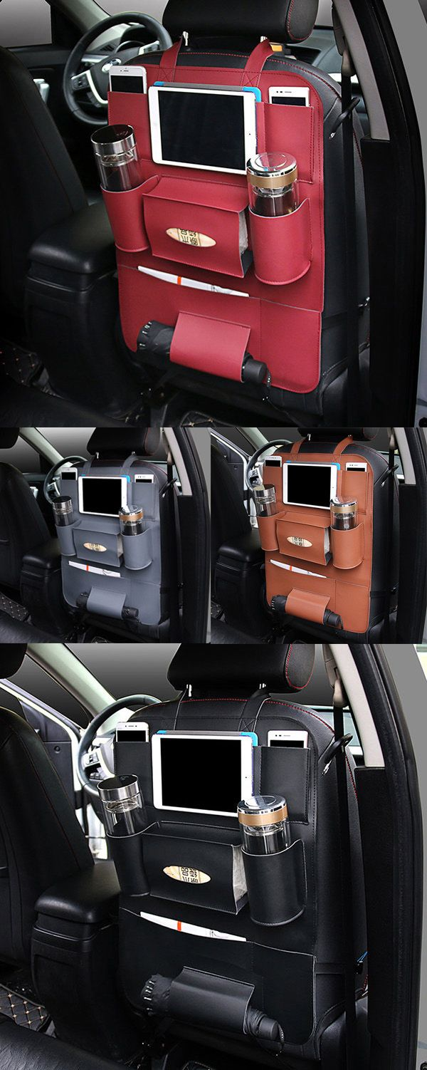 $15.99 Pu Leather Car Seat Storage Bag 5 Colors Travel Solid Hang Bag✖️No Pin Limits✖️More Pins Like This One At FOSTERGINGER @ Pinterest✖️